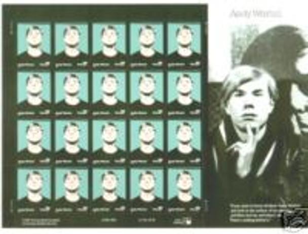 US (2002)- Andy Warhol Sheet of 20- #3652