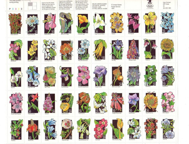Wild Flowers Issue - Sheet of 50