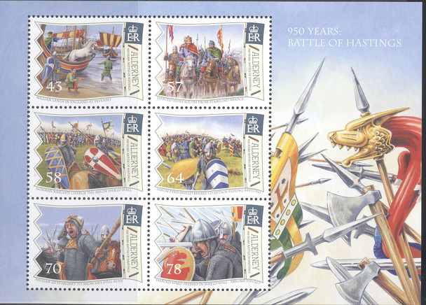 ALDERNEY- Battle of Hastings 2016- Sheet of 6