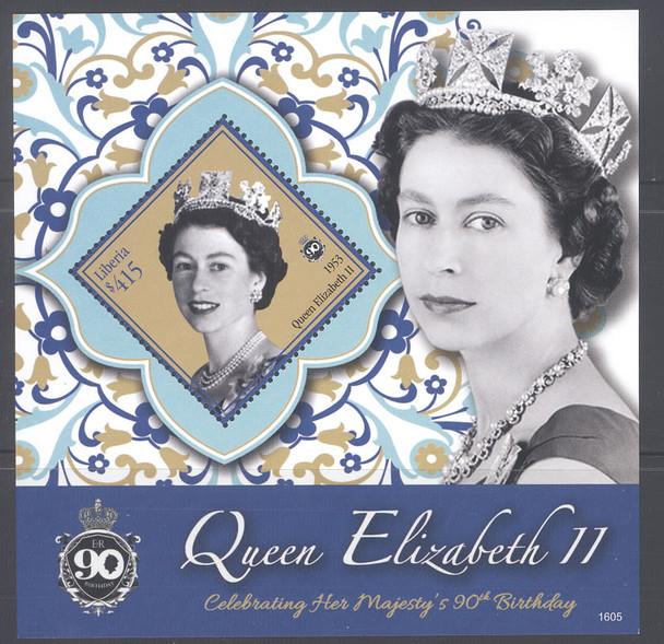 LIBERIA (2017) - QE II 90th Birthday - souvenir sheet