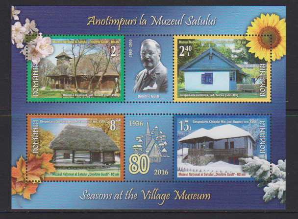 ROMANIA- Seasons at the Village Museum- Sheet of 4