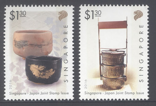 Singapore- Joint Issue with Japan- Sheet of 6- bowls