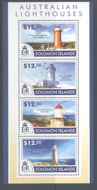 SOLOMON ISLANDS- Lighthouses 2015- Sheet of 4