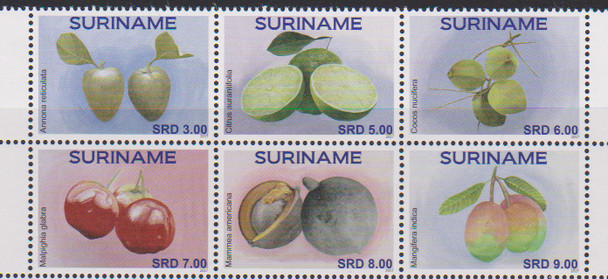 SURINAME (2017)- Fruits  (6v)