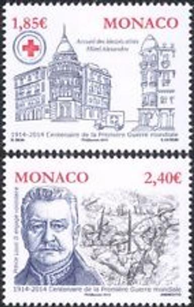 MONACO (2014) WWI Centenary Louis II (2v)