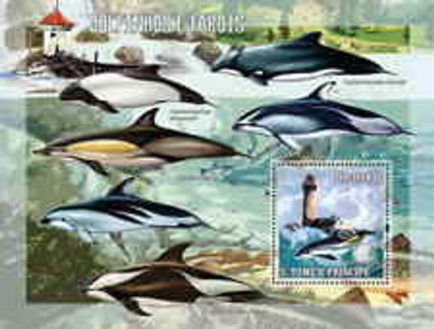 ST THOMAS (2006) Dolphins And Lighthouses Sheet & SS