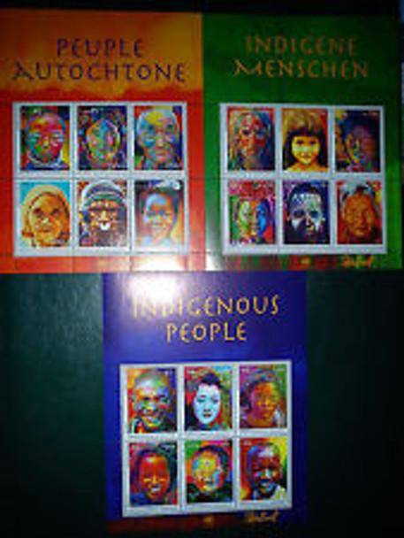 UNITED NATIONS (2012) Indigenous People Sheet Set (3)