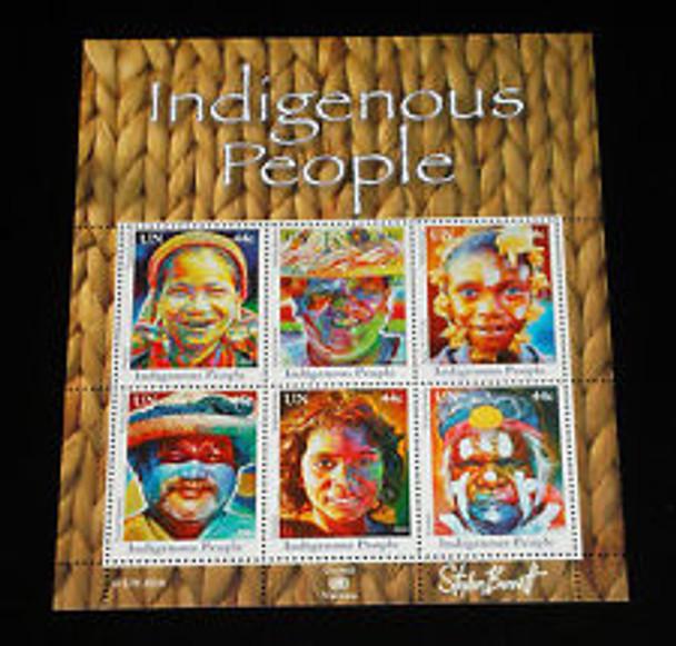 UNITED NATIONS (2010) Indigenous People Sheet set (3)
