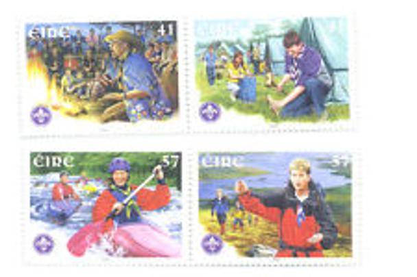IRELAND (2002) SC#1388-92 Scouting (4v)