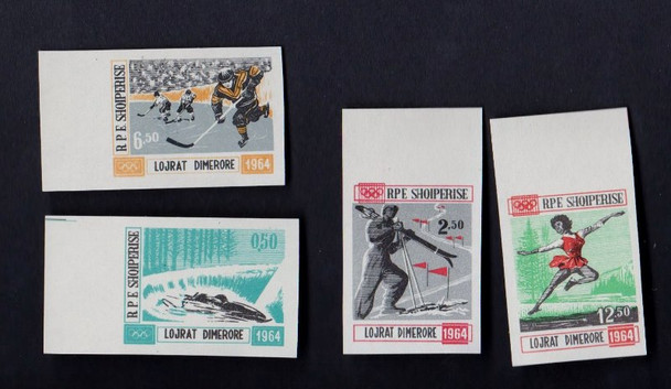 ALBANIA (1963) SPORTS ,  IMPERF , Changed Colors MNH  (4v)