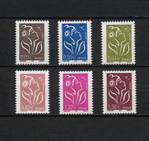 FRANCE (2008) sc33383-8 Marianne def Set (6v)