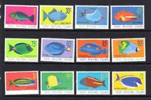 COCOS (1995-7) Fish Definitive  (12v)
