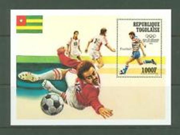 TOGO (1984)  sc#c493 Soccer, Olympics, SS