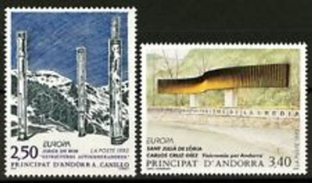 ANDORRA , French Admin. SC#425-6 Art, Europa (2v)