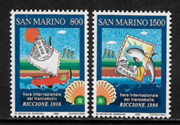 SAN MARINO (1998) sc#1427-8 Fair, Art, Dolphin (2v)