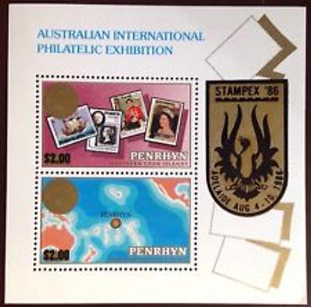 PENRHYN (1986) Stampex , Stamp On Stamp SS
