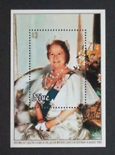 NIUE ((1980) sc3292 Queen Mothers Birthday SS