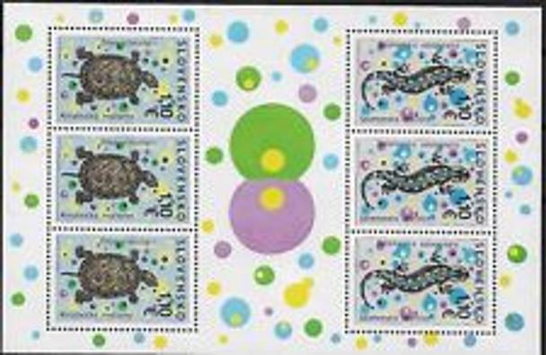 SLOVAKIA (2010) Turtle ,Salamander Sheet