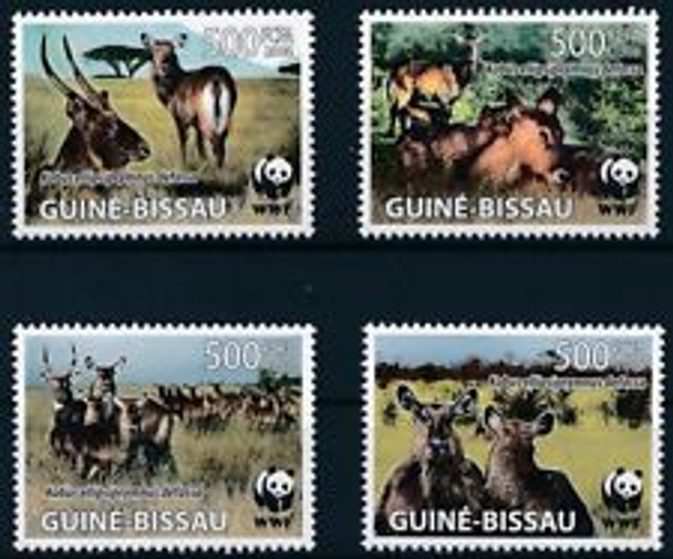 GUINEA BISSAU (2009) WWF, Water Bucks (4v)