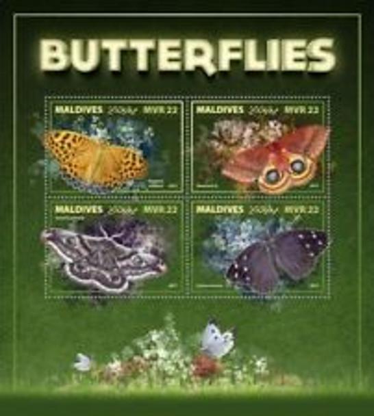 MALDIVES (2018) Butterflies Sheet