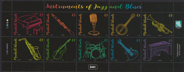 MARSHALL ISLANDS (2018) Musical Instruments Sheet