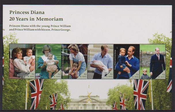 ST.KITTS (2018) Diana 20 Year Memorial Sheet LAST ONE