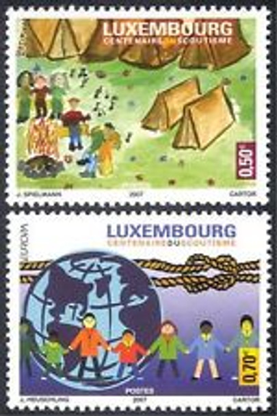 LUXEMBOURG (2007) Europa Scouting (2v)
