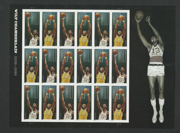 US (2015)- Wilt Chamberlain Sheet of 18- (NBA BASKETBALL)  #4951a