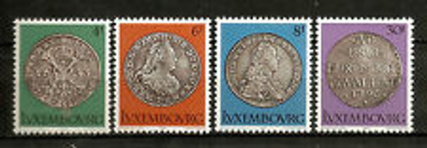 LUXEMBOURG (1981) sc#651-4 Coins (4v)