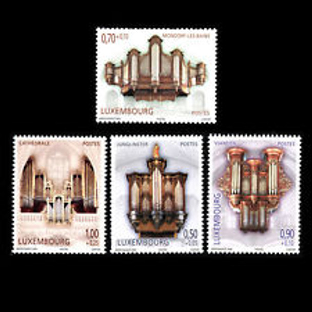 LUXEMBOURG (2007) Pipe Organs, Semi Postal (4v)