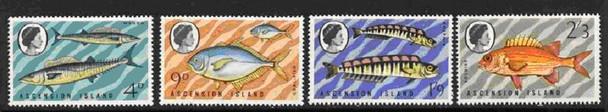 ASCENSION IS. (1970)- FISH - 4v