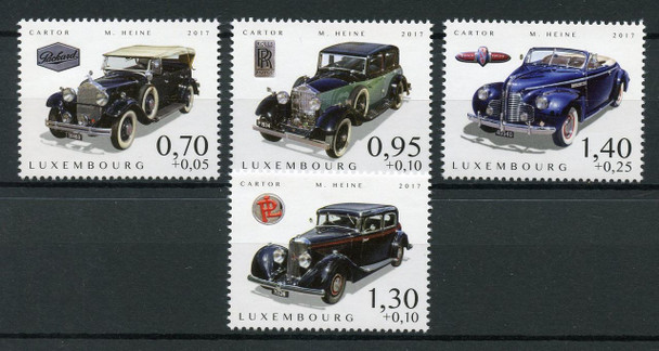 LUXEMBOURG (2017)- CARS OF YESTERYEAR (4V)- ROLLS ROYCE, ETC.