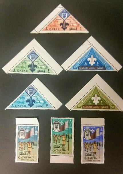 QATAR Sc#53-60 Older Set,  Scouting,Oil,Triangle Set LAST ONE