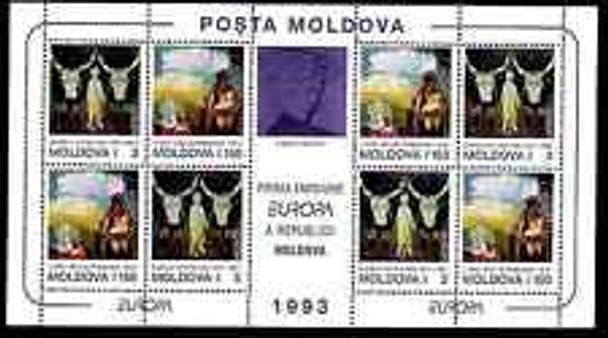 MOLDOVA (1993) EUROPA ART Sheet