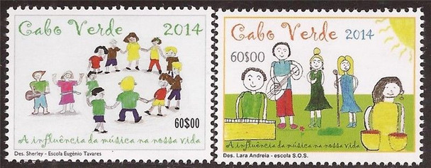 CAPE VERDE (2014)- Children's Drawings w/Musical Instruments