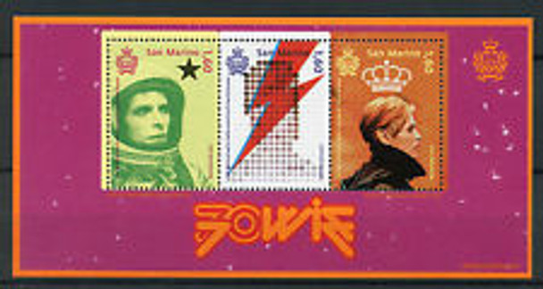 San Marino - Bowie Anniversary Sheet