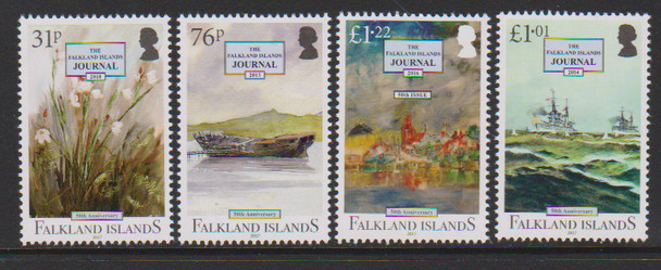FALKLAND ISLANDS (2017)- JOURNAL ANNIVERSARY- Flowers, ship, etc. (4)