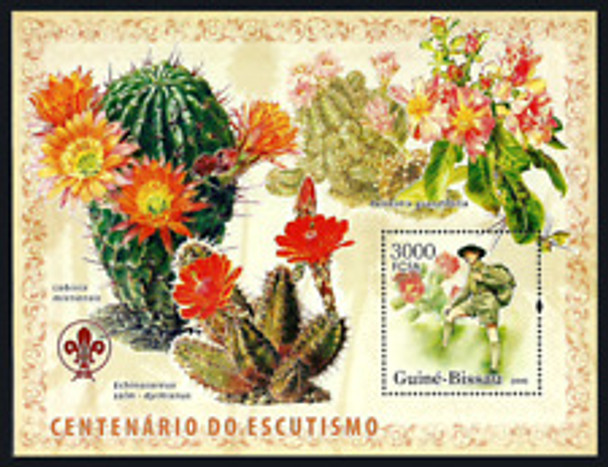 GUINEA BISSAU (2009) Centenary Scouting, Cactus TWO Sheets LAST ONE