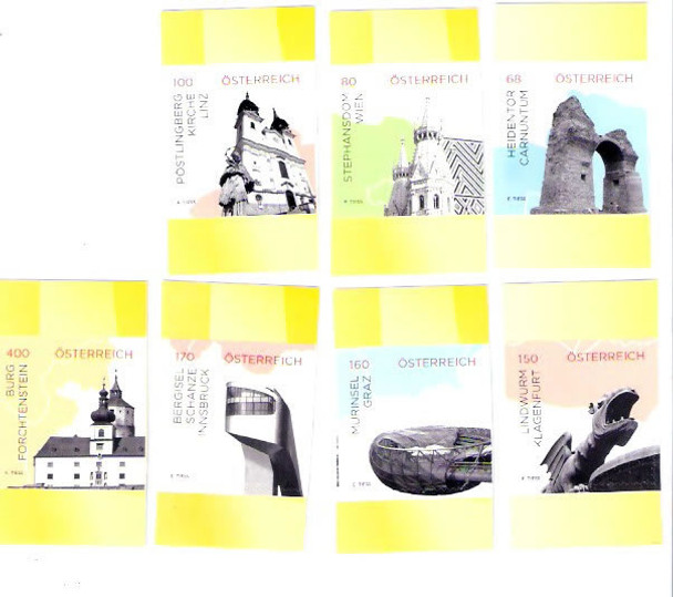 AUSTRIA (2015): Landmarks- self-adhesive- archaeology- cathedral- architecture (7)