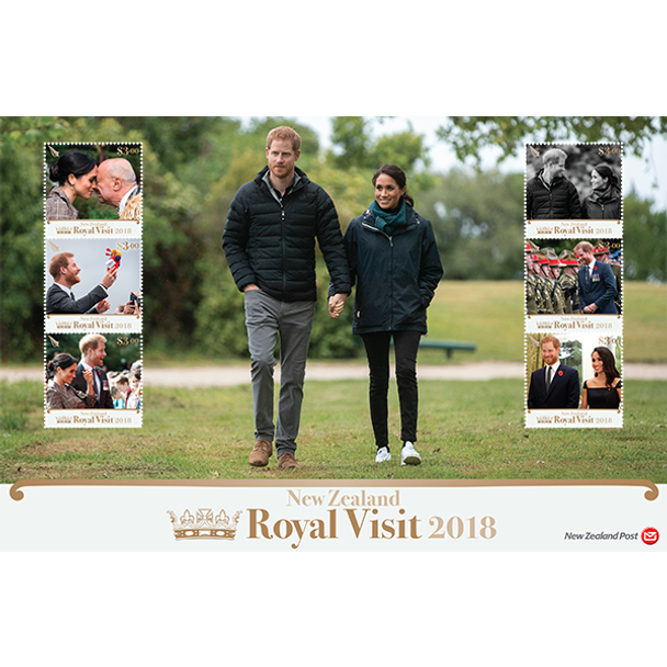 NEW ZEALAND (2018)- ROYAL VISIT JUMBO SHEET- Prince Harry