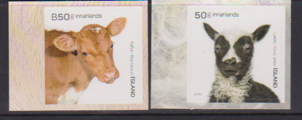 ICELAND (2018)- YOUNG OF ICELAND'S DOMESTIC ANIMALS (2v)- COW, SHEEP