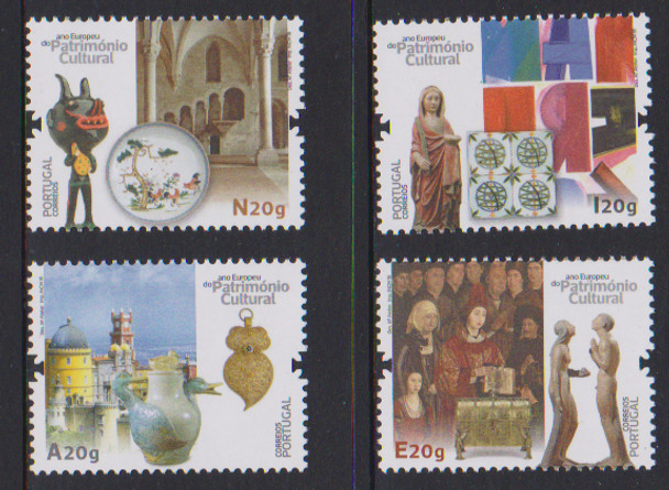 PORTUGAL (2018)- EUROPEAN YEAR OF CULTURE (4v)- ART, POTTERY, ETC.