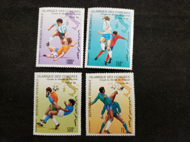COMORES  (1990) World Cup Soccer Airpost (4v)