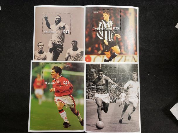 GAMBIA  (1997) Soccer Sheet Set (4v) LAST ONE