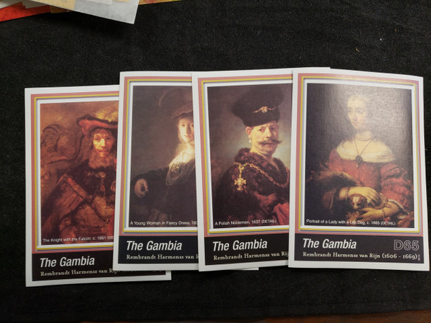GAMBIA  (2006) ART, Rembrandt  Paintings  4 Sheet Set LAST ONE