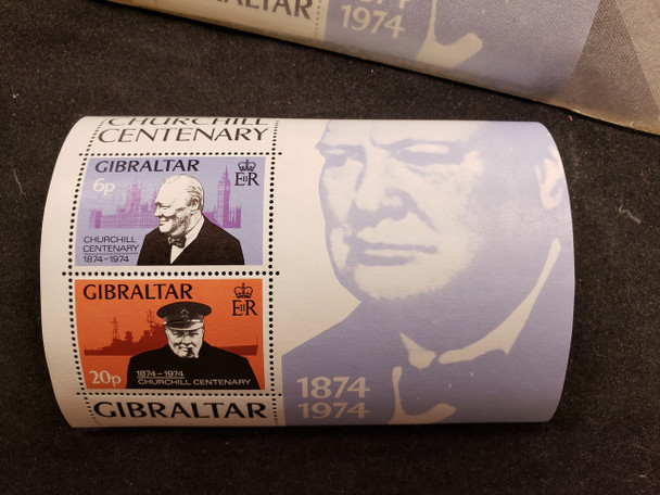 GIBRALTAR (1974) CHURCHILL CENTENARY SS