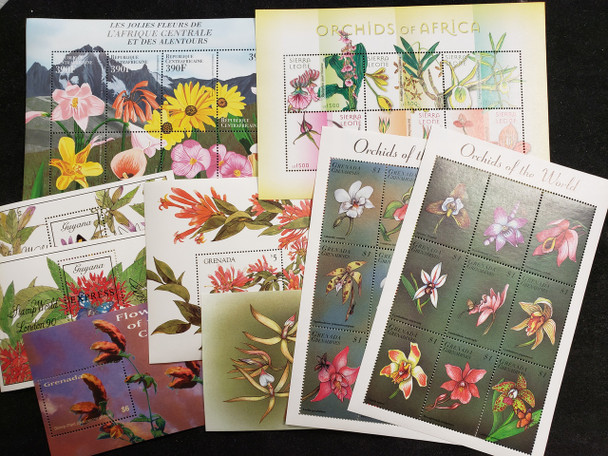 FLORA, ORCHID 50 Sheet Collection,Various  Countries