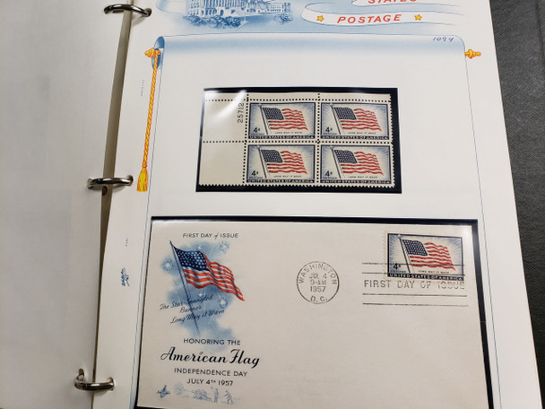 UNITED STATES STAMP AND FDC COLLECTION FLAG ,Patriotic RELATED >230 FDC Face>$150