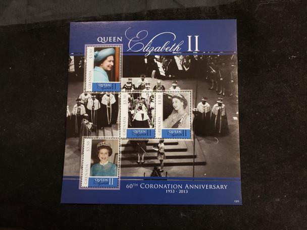 GRENADA  (2013) Queen Elizabeth Coronation Anniversary Sheet