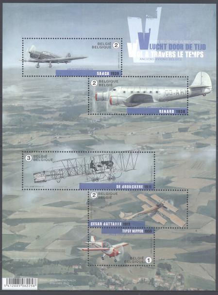 BELGIUM- Old Aircraft- Sheet of 5